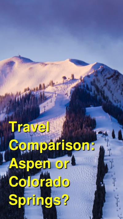 Aspen vs. Colorado Springs Travel Comparison