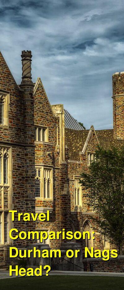 Durham vs. Nags Head Travel Comparison
