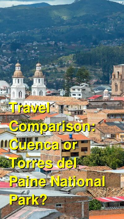 Cuenca vs. Torres del Paine National Park Travel Comparison