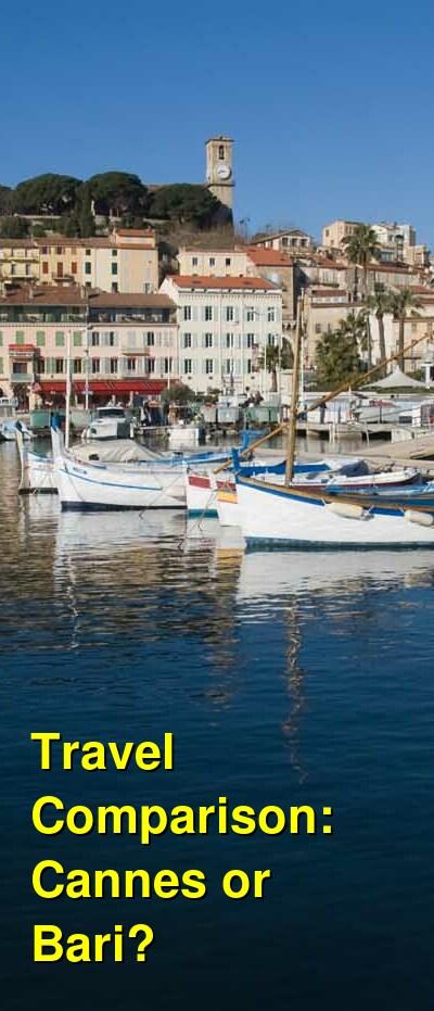 Cannes vs. Bari Travel Comparison