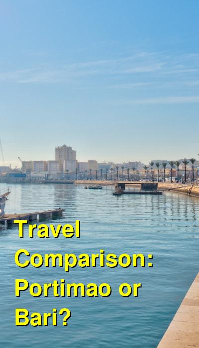 Portimao vs. Bari Travel Comparison