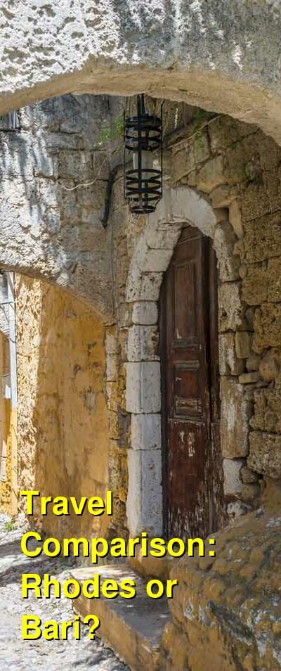 Rhodes vs. Bari Travel Comparison