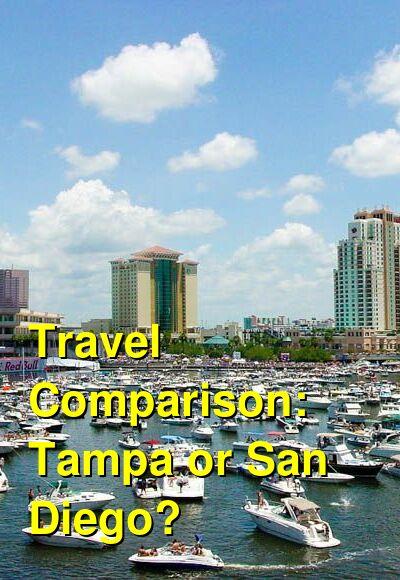 Tampa vs. San Diego Travel Comparison