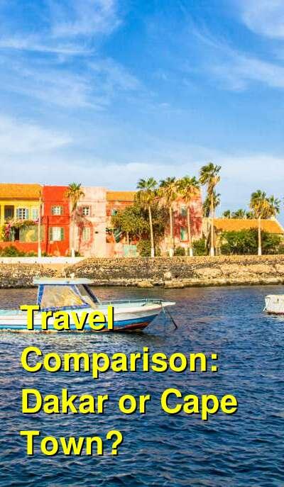 Dakar vs. Cape Town Travel Comparison