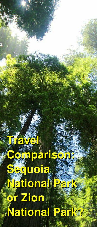 Sequoia National Park vs. Zion National Park Travel Comparison