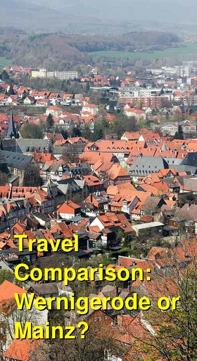 Wernigerode vs. Mainz Travel Comparison