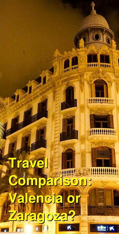 Valencia vs. Zaragoza Travel Comparison
