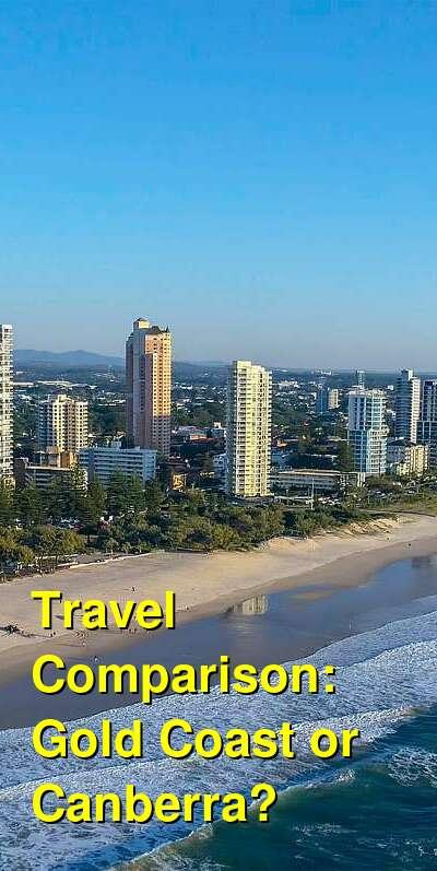 Gold Coast vs. Canberra Travel Comparison