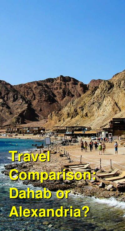 Dahab vs. Alexandria Travel Comparison