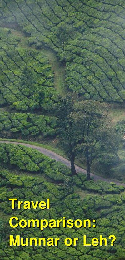 Munnar vs. Leh Travel Comparison