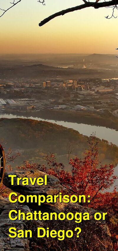 Chattanooga vs. San Diego Travel Comparison