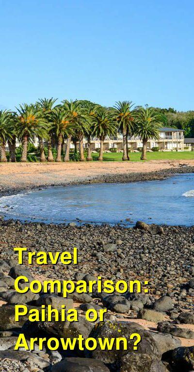 Paihia vs. Arrowtown Travel Comparison