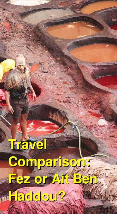 Fez vs. Ait Ben Haddou Travel Comparison
