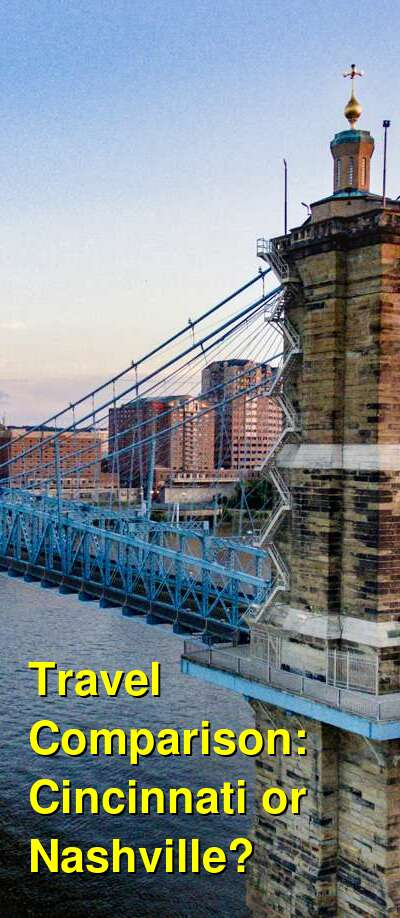 Cincinnati vs. Nashville Travel Comparison
