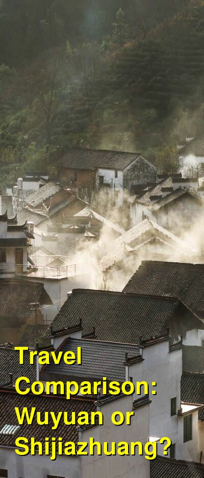 Wuyuan vs. Shijiazhuang Travel Comparison