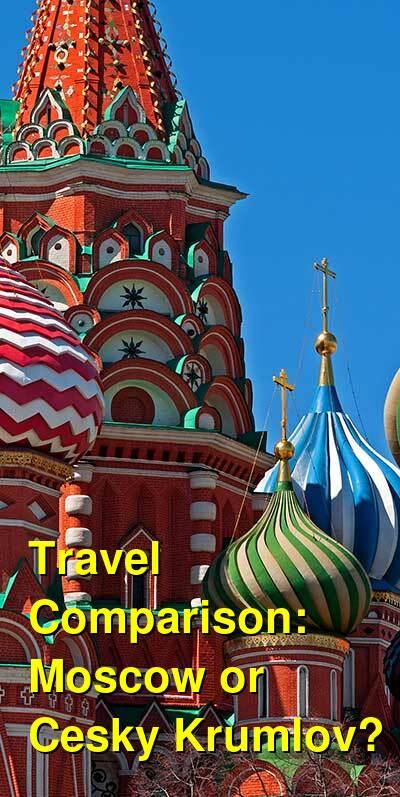 Moscow vs. Cesky Krumlov Travel Comparison