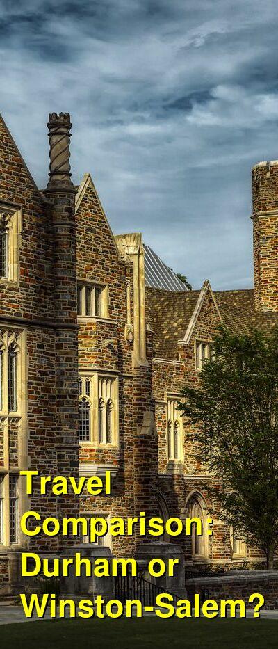 Durham vs. Winston-Salem Travel Comparison