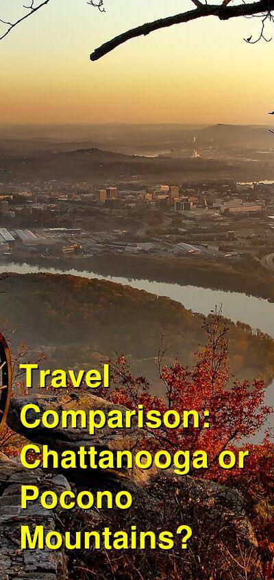 Chattanooga vs. Pocono Mountains Travel Comparison