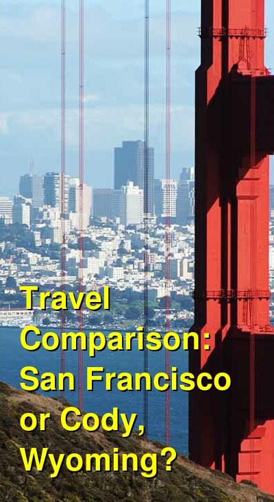 San Francisco vs. Cody, Wyoming Travel Comparison