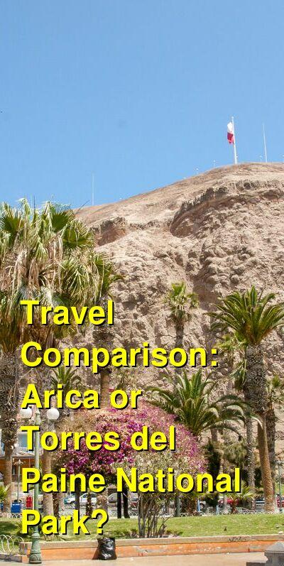 Arica vs. Torres del Paine National Park Travel Comparison