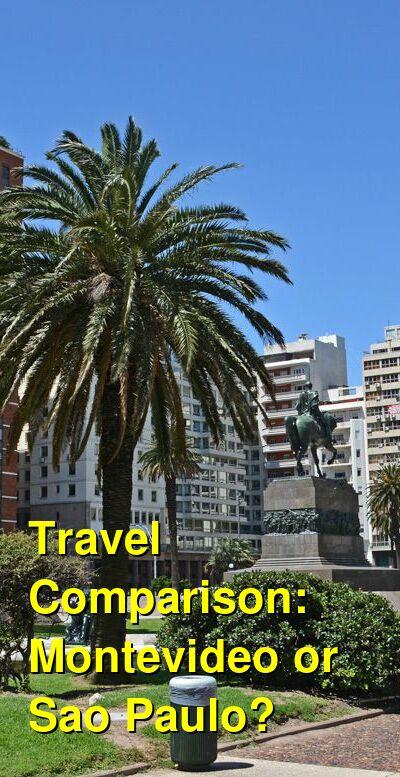 Montevideo vs. Sao Paulo Travel Comparison