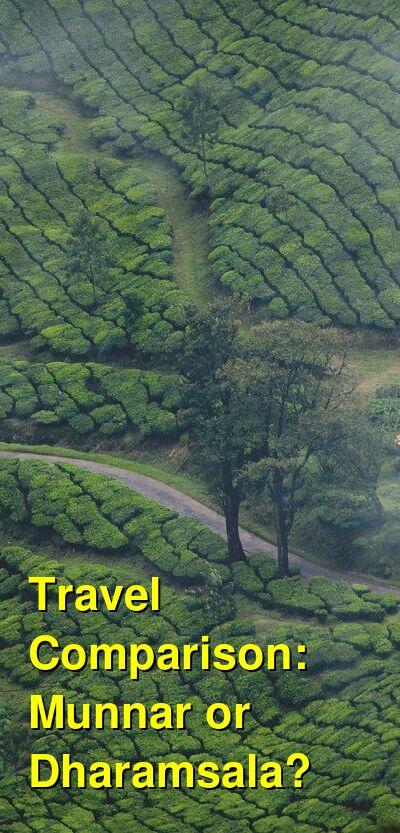 Munnar vs. Dharamsala Travel Comparison