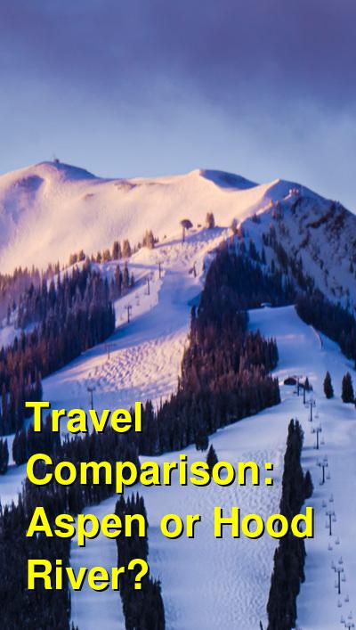Aspen vs. Hood River Travel Comparison
