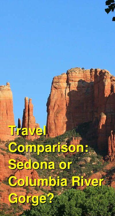 Sedona vs. Columbia River Gorge Travel Comparison