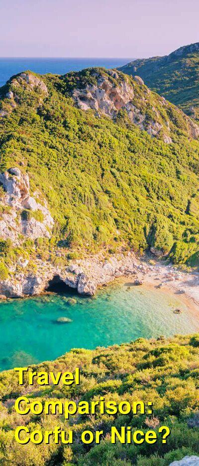 Corfu vs. Nice Travel Comparison