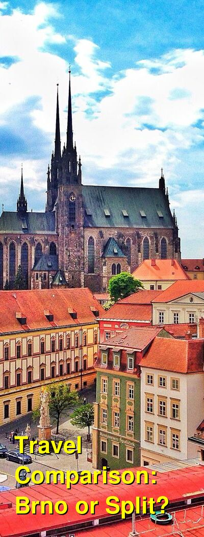 Brno vs. Split Travel Comparison