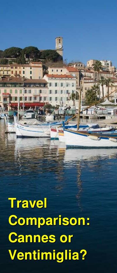 Cannes vs. Ventimiglia Travel Comparison