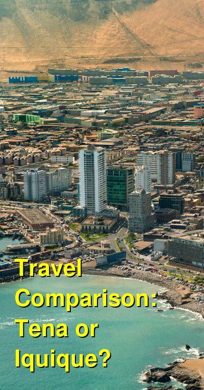 Tena vs. Iquique Travel Comparison
