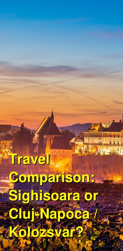Sighisoara vs. Cluj-Napoca / Kolozsvar Travel Comparison