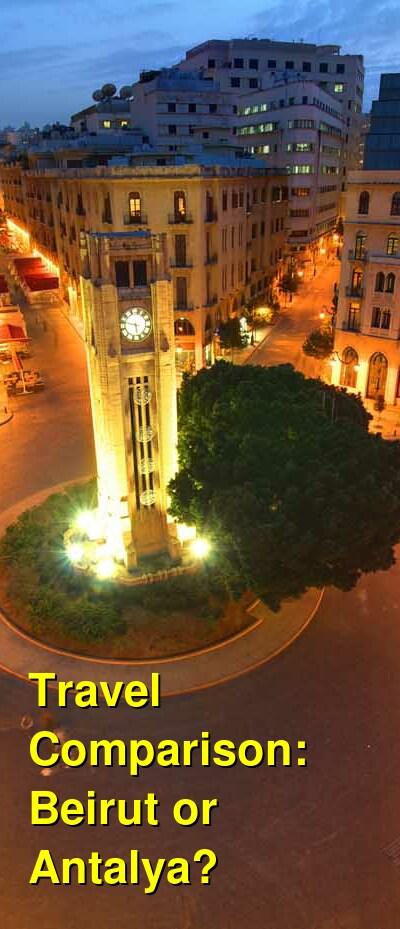 Beirut vs. Antalya Travel Comparison