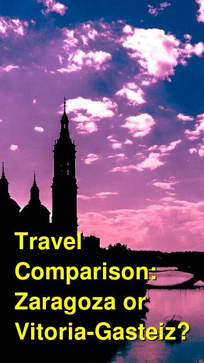 Zaragoza vs. Vitoria-Gasteiz Travel Comparison