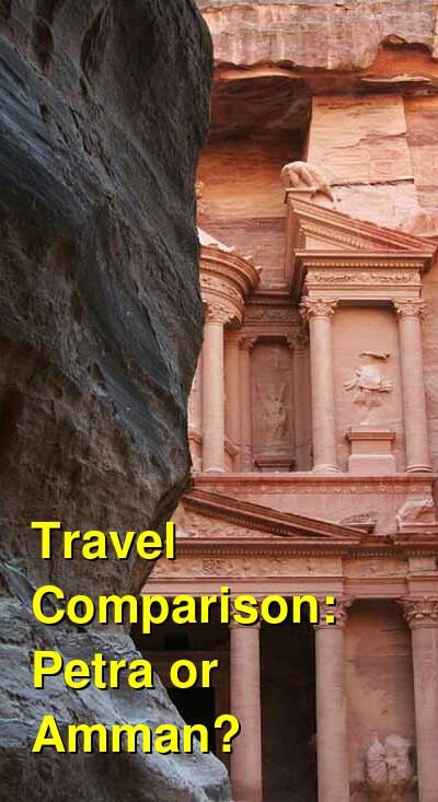 Petra vs. Amman Travel Comparison