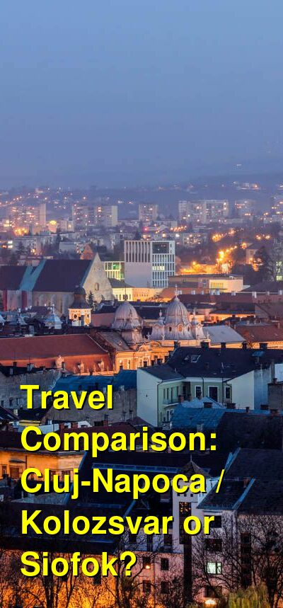 Cluj-Napoca / Kolozsvar vs. Siofok Travel Comparison
