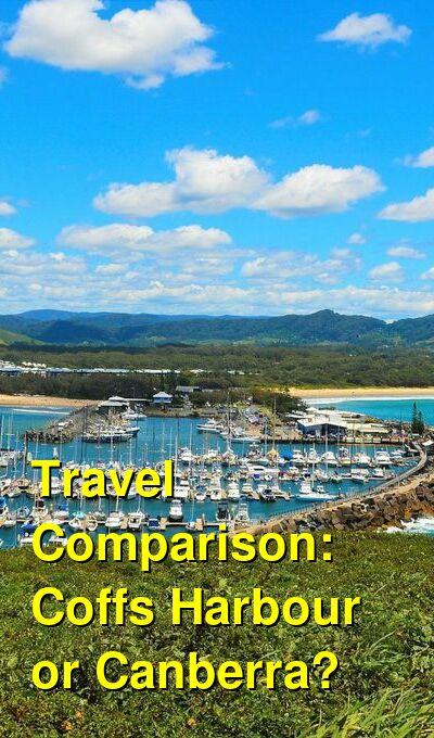Coffs Harbour vs. Canberra Travel Comparison