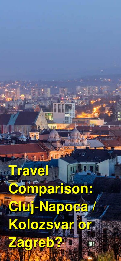 Cluj-Napoca / Kolozsvar vs. Zagreb Travel Comparison