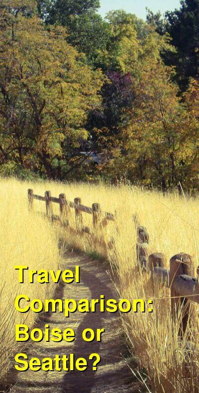 Boise vs. Seattle Travel Comparison