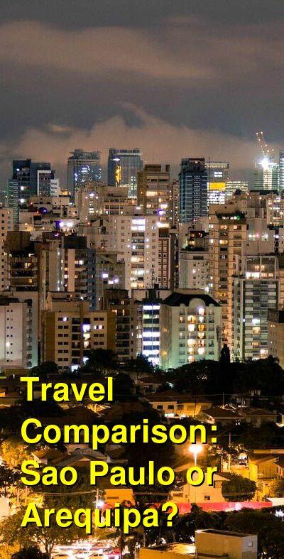 Sao Paulo vs. Arequipa Travel Comparison
