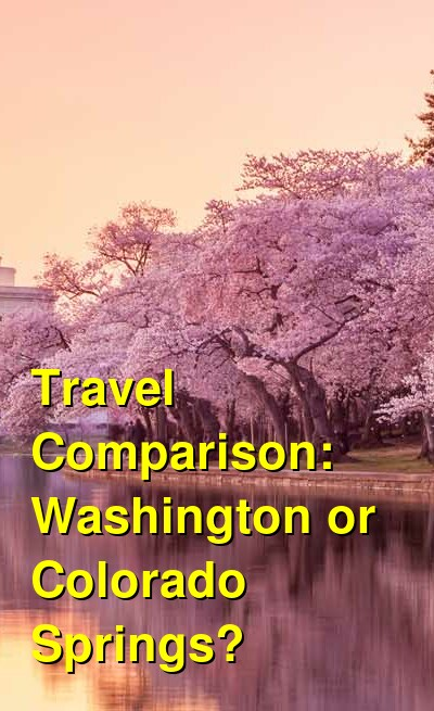 Washington vs. Colorado Springs Travel Comparison