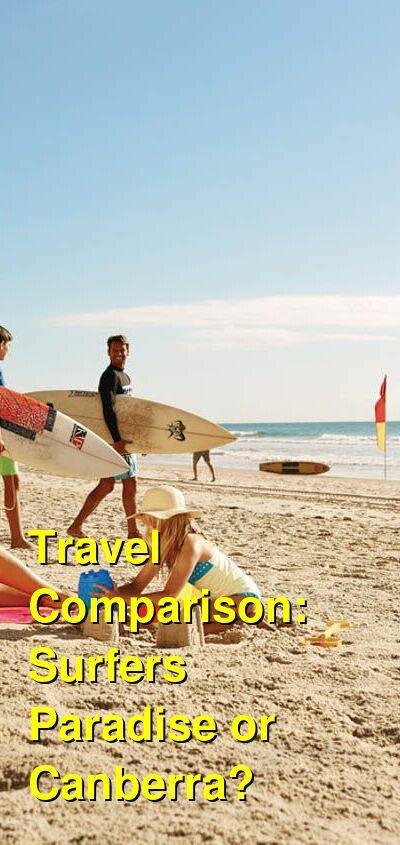 Surfers Paradise vs. Canberra Travel Comparison