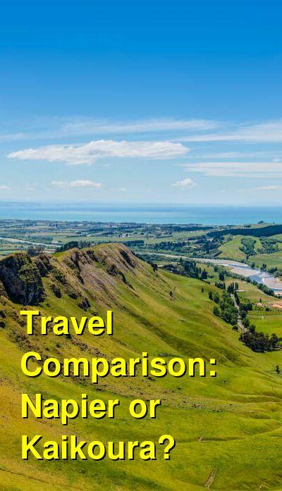 Napier vs. Kaikoura Travel Comparison