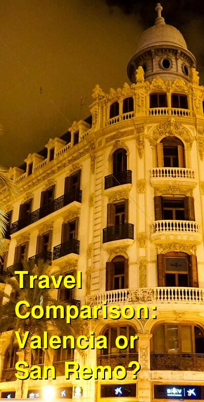 Valencia vs. San Remo Travel Comparison