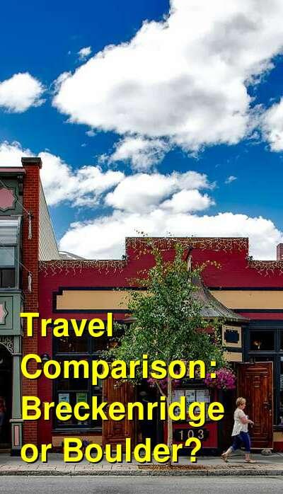 Breckenridge vs. Boulder Travel Comparison