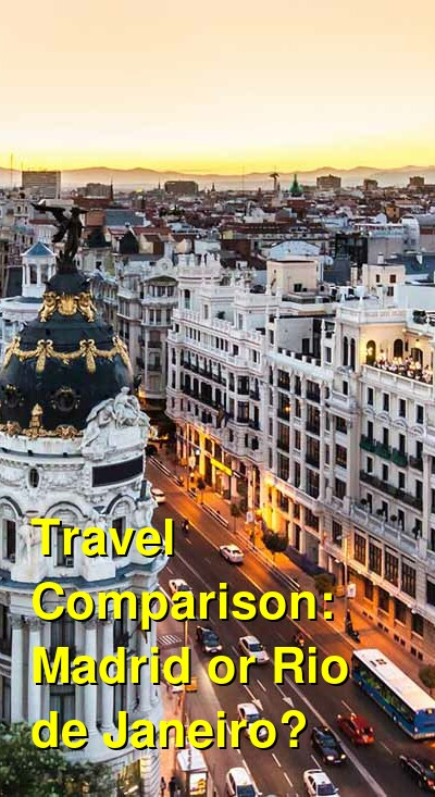 Madrid vs. Rio de Janeiro Travel Comparison