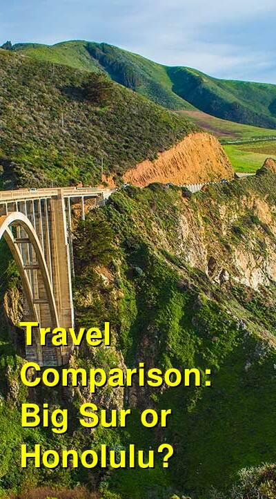 Big Sur vs. Honolulu Travel Comparison