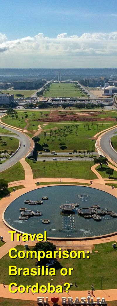 Brasilia vs. Cordoba Travel Comparison