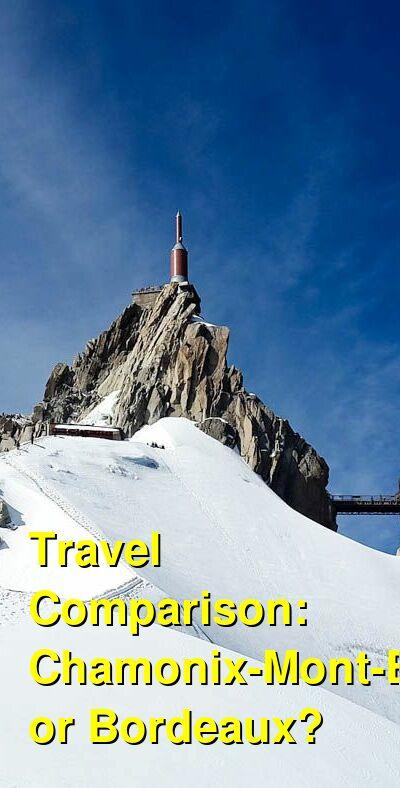 Chamonix-Mont-Blanc vs. Bordeaux Travel Comparison